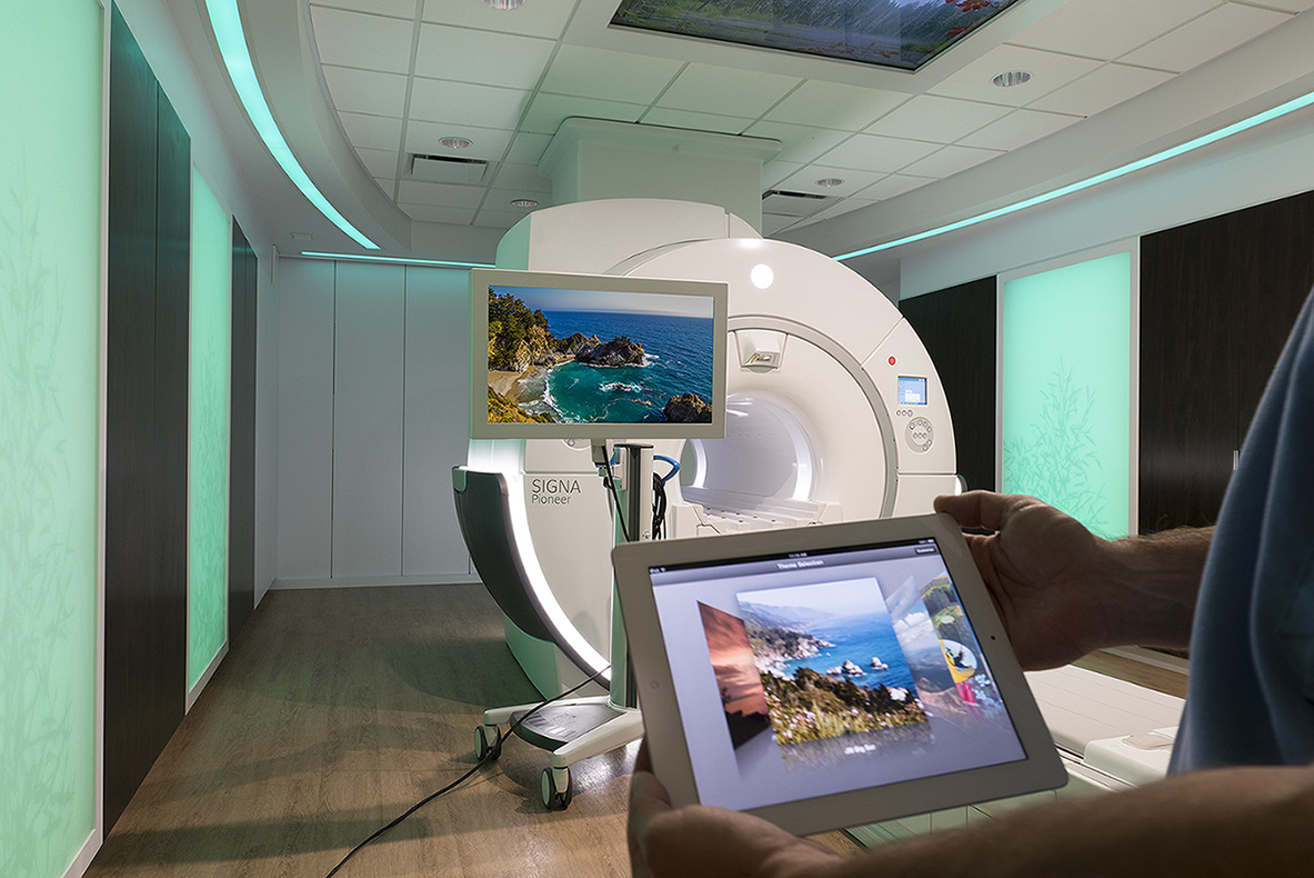 GE Healthcare's Caring MR Suite with inbore viewing for best MRI experience