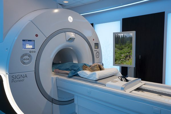 GE Healthcare's Caring MR Suite with MRI inbore viewing for best MRI patient experience